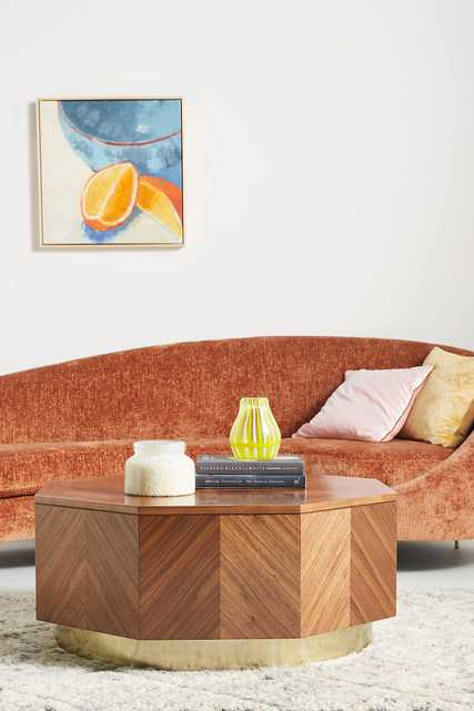 Quillen Marquetry Coffee Table - Anthropologie