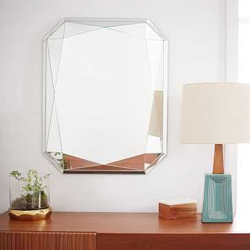 Faceted Wall Mirror, Emerald Cut - West Elm
