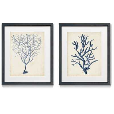 Graphic Foliage IV - 2 Piece Picture Frame Painting Print Set on Paper - Wayfair