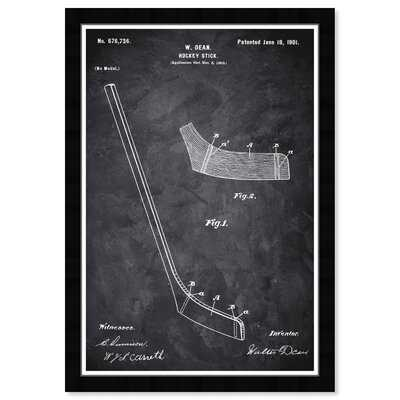 'Sports and Teams Hockey Stick 1900 Chalkboard Hockey' - Picture Frame Graphic Art Print on Paper - Wayfair
