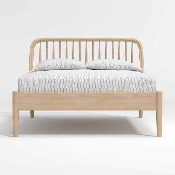 Bodie Oak Spindle Full Bed - Crate and Barrel