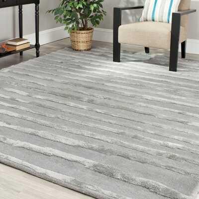 Caden Hand-Tufted Wool Gray Area Rug - AllModern