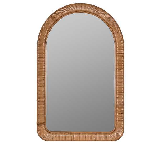 "Brooke Rattan Arch Wall Mirror, 24""W x 38""H - Pottery Barn"
