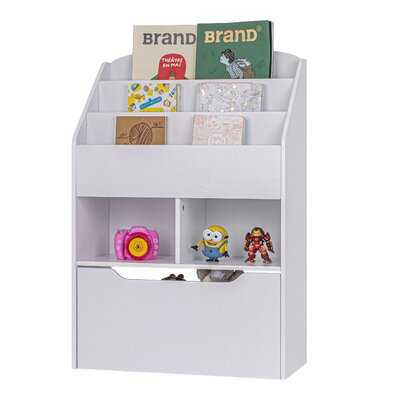 """24""""Kids Display, Kids Bookcase With Toy Storage,Kids Book Organizer, White - Wayfair"""