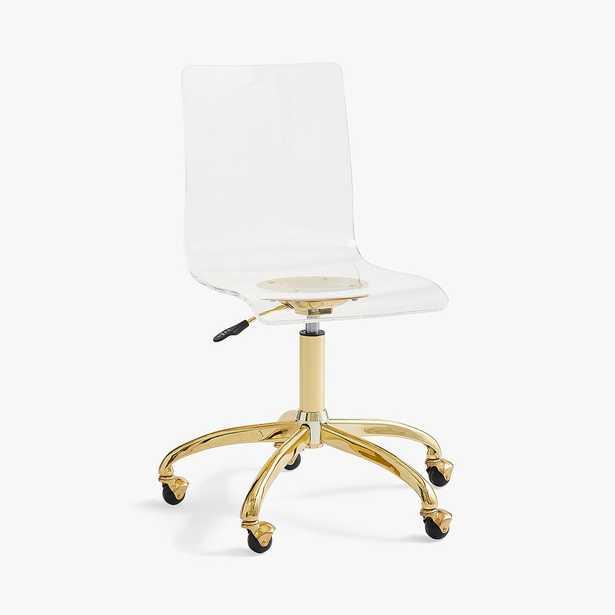 Piper Acrylic Swivel Desk Chair, Acrylic - Pottery Barn Teen