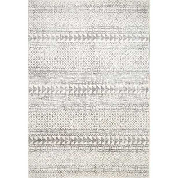 nuLOOM Vintage Aztec Lily Gray 6 ft. 7 in. x 9 ft. Area Rug - Home Depot