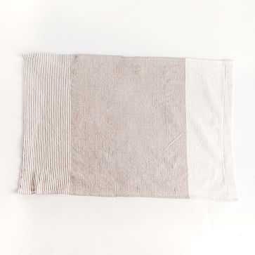 Chesapeake Handwoven Cotton Tea Towel Stone - West Elm