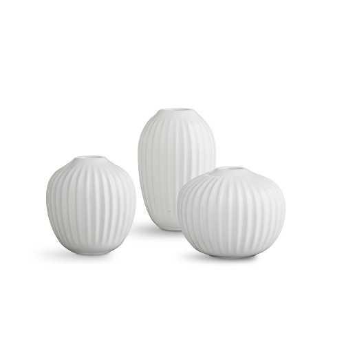Kahler Hammershoi Miniature Vase, White, Set of 3 - Williams Sonoma