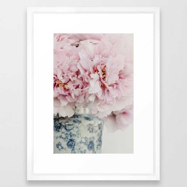 Pink Peonies Framed Art Print by Ingrid Beddoes Photography - Vector White - MEDIUM (Gallery)-20x26 - Society6