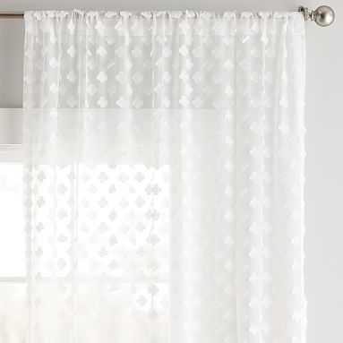 "Cloud Sheer Curtain Panel (96""), Ivory (Single Panel) - Pottery Barn Teen"