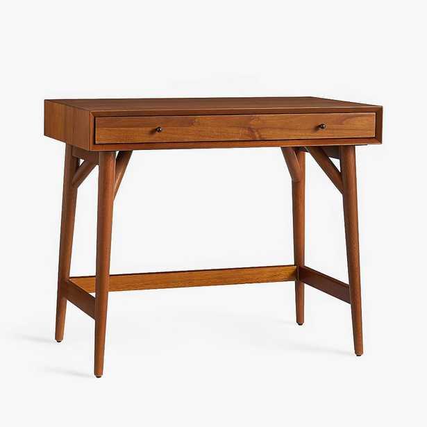 west elm x pbt Mid-Century Small-Space Mini Desk, Acorn, In-Home - Pottery Barn Teen