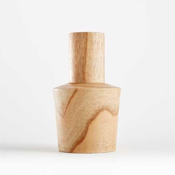 Orla Medium Natural Wood Vase - Crate and Barrel