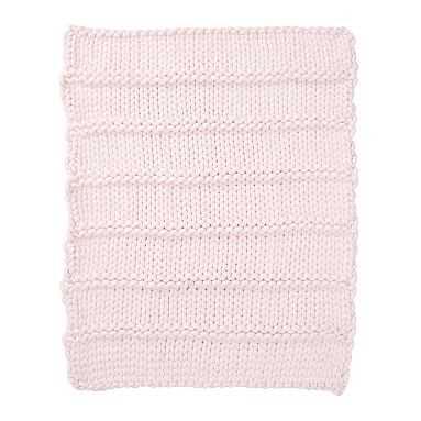 Super Chunky Knit Throw, 45X55, Powdered Blush - Pottery Barn Teen