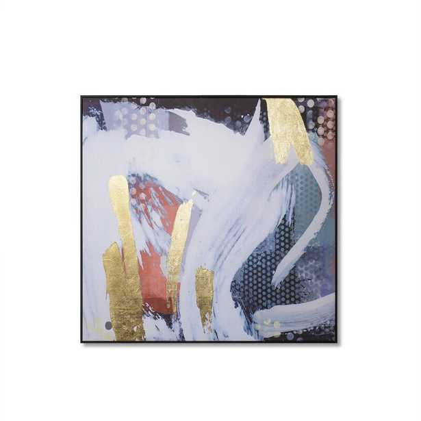 'White Dust Abstract' Framed Print on Canvas - Perigold