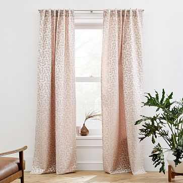 "Maze Jacquard Curtain, Pink Stone, 48""x108"" - West Elm"