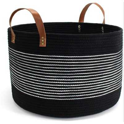 Extra Large Rope Woven Baskets For Storage With Handles, Laundry Basket For Blankets Toys, Decorative Floor Basket, Woven Baby Laundry Basket Living Room - Wayfair