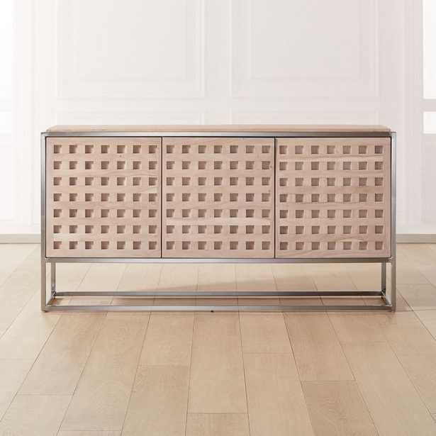 Cut Out Wood and Metal Credenza - CB2