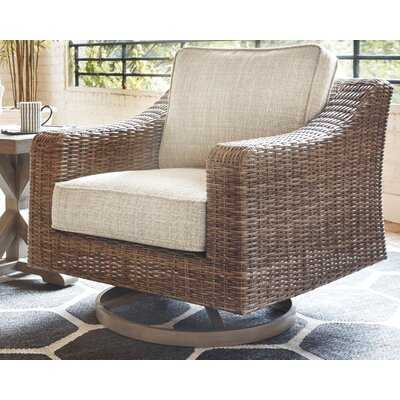 Gilchrist Swivel Patio Chair with Cushions - Birch Lane