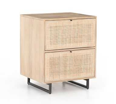 Dolores Cane 2-Drawer Lateral File Cabinet, Natural - Pottery Barn