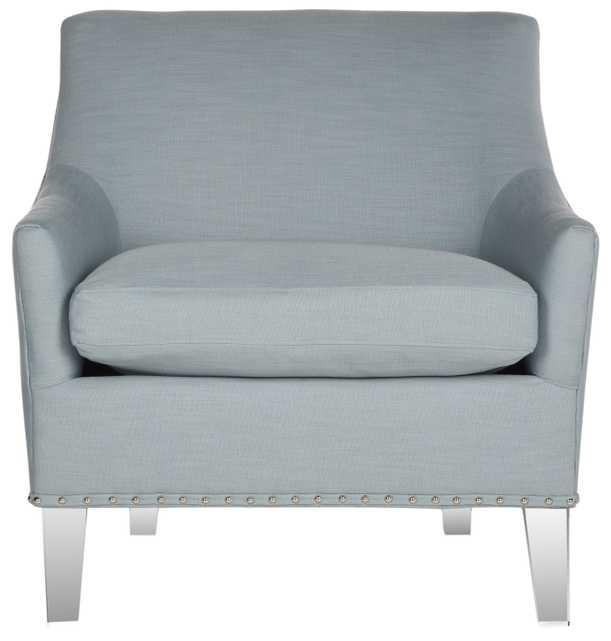 Hollywood Glam Acrylic Teal Club Chair - Teal/Clear - Arlo Home - Arlo Home