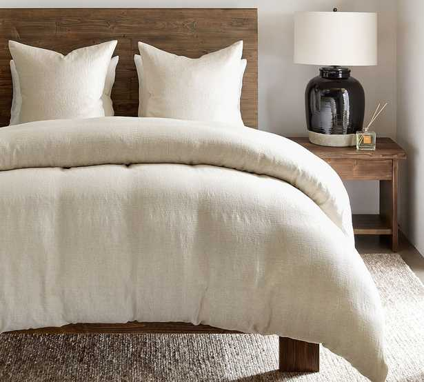 Flax Willow Linen/Cotton Twill Duvet Cover, Full/Queen - Pottery Barn