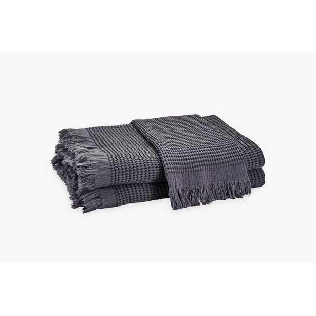 Matouk Kiran Hand Towel Color: Anthracite - Perigold