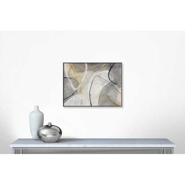 """Casa Fine Arts 'Lucid Shapes' - Floater Frame Painting on Canvas Frame Color: Silver Framed, Size: 30"""" H x 40"""" W x 2"""" D - Perigold"""