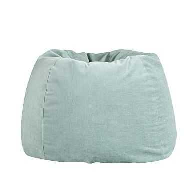 west elm x pbt Velvet Bean Bag Chair Set, Large, Distressed Velvet Aqua - Pottery Barn Teen