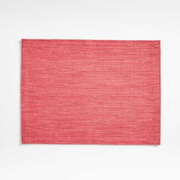 Grasscloth Raspberry Red Cotton Placemat - Crate and Barrel