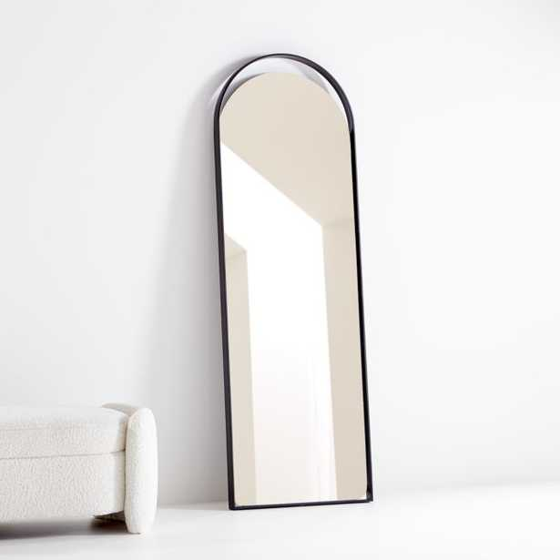 Aosta Black Arch Cutout Floor Mirror - Crate and Barrel