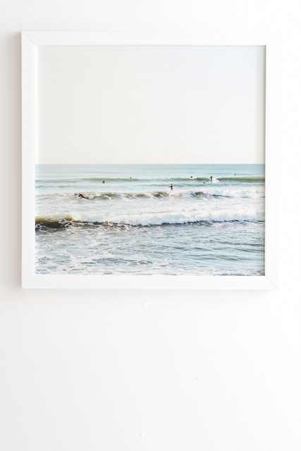 """Surfers Point by Bree Madden - Framed Wall Art Basic White 30"""" x 30"""" - Wander Print Co."""
