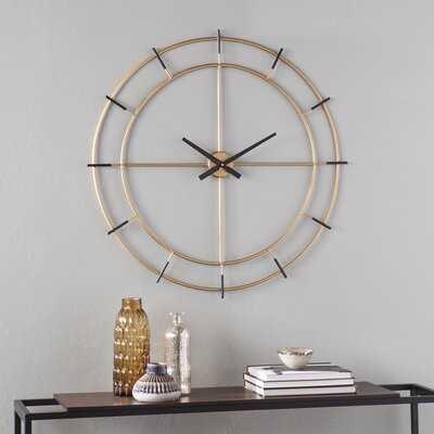 "Oversized Plemons 35"" Wall Clock - Wayfair"