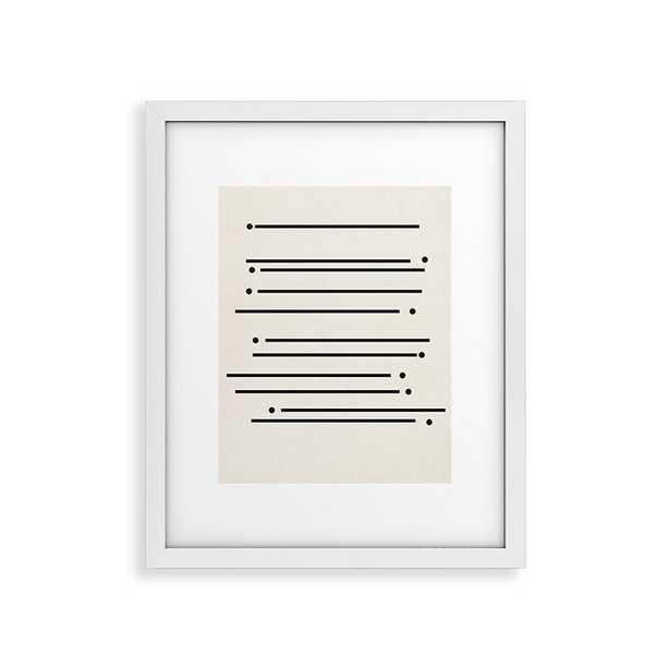 """Sticks And Stones by Rose Beck - Modern Framed Art Print White 11"""" x 14"""" - Studio Marcette"""