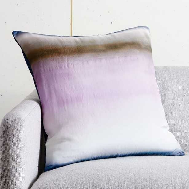 """20"""" Blurred Ombre Pillow with Down-Alternative Insert - CB2"""