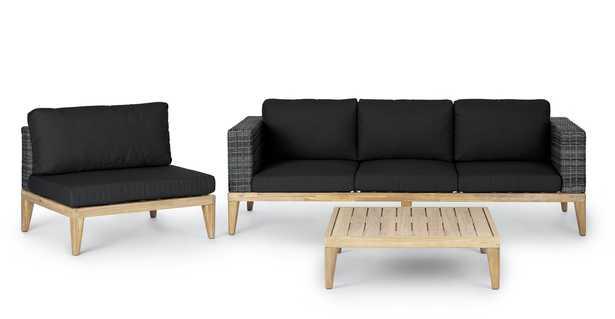 Urba Slate Gray Sofa Set - Article