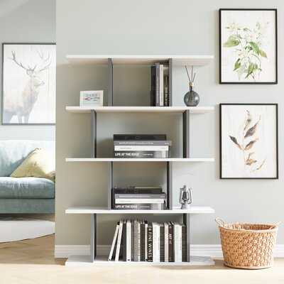 "Gjuro 50.2"" H x 35.43"" W Geometric Bookcase - Wayfair"