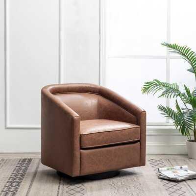 """Kiersten 28.7"""" Wide Swivel Barrel Chair - Wayfair"""