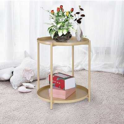 Fribley Tray Top End Table with Storage - Wayfair