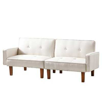 Mid-Century 74-Inch Sofa, Modern 3-Seater Upholstered Sofa Sofa Loveseat, Suitable For Small Living Room And Studio Space - Wayfair