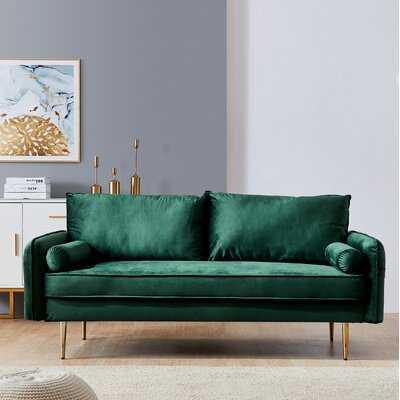 "Velvet 71"" Round Arm Sofa - Wayfair"