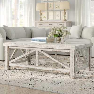 Solid Wood 4 Legs Coffee Table - Wayfair
