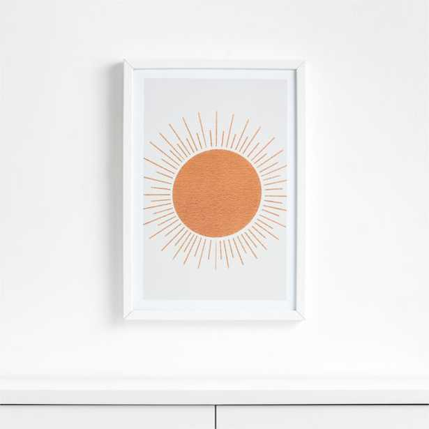 Sun Ray Mid-Century Framed Wall Art - Crate and Barrel