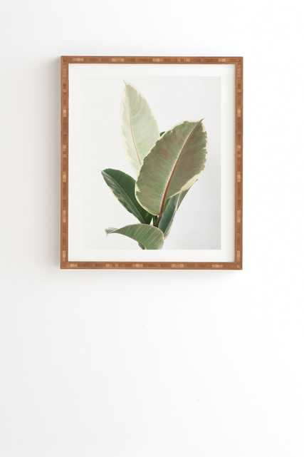 "Ficus Tineke by Cassia Beck - Framed Wall Art Bamboo 19"" x 22.4"" - Wander Print Co."