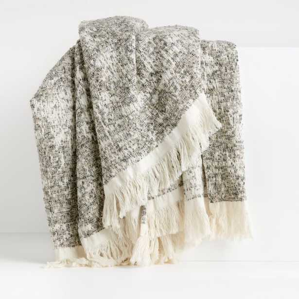 Houton Tan Throw Blanket - Crate and Barrel