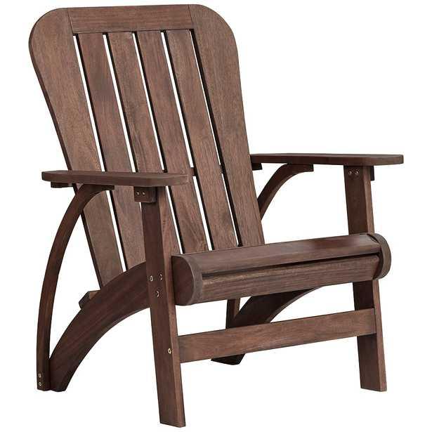 Dylan Acacia Dark Wood Adirondack Chair - Style # 68X03 - Lamps Plus