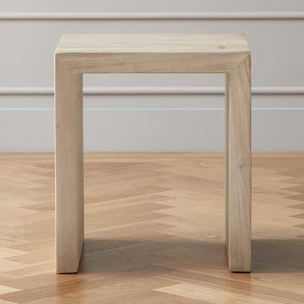 Blanche Bleached Acacia Side Table - CB2