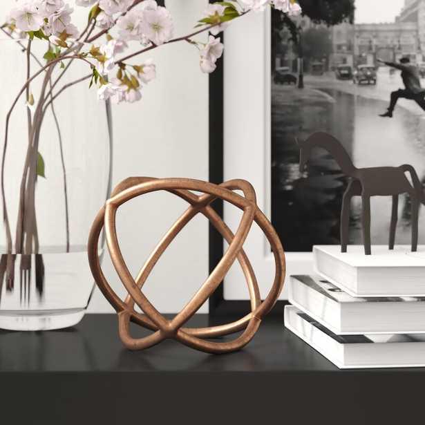 "Jacks in Orbit Filler Sculpture Finish: Copper, Size: 5.25"" H x 5.25"" W x 5.25"" D - Perigold"