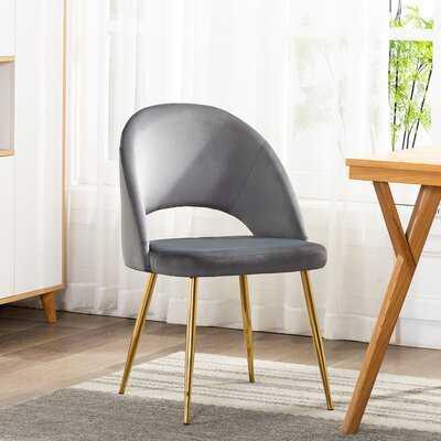 Emerico Velvet Upholstered Side Chair - Wayfair