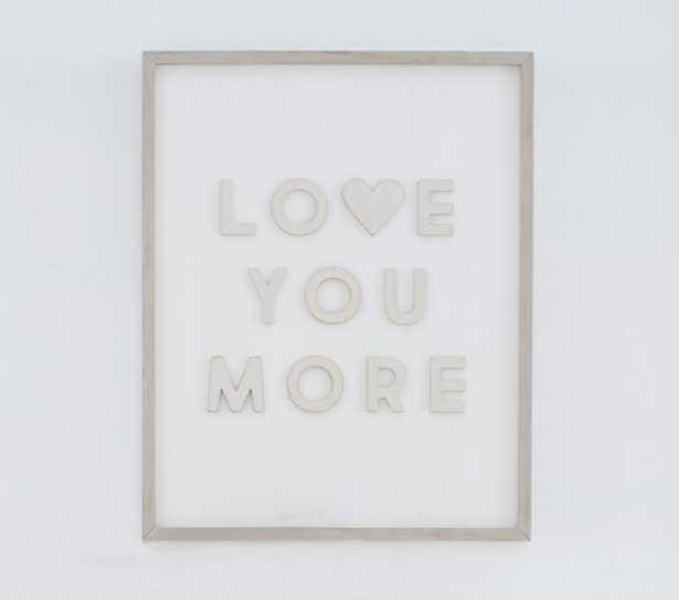 Love You More Wood Sentiment Art - Pottery Barn Kids