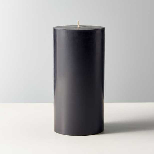 "Black Pillar Candle 3""x6"" - CB2"